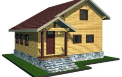 Проекты домов из бруса 6×6, с мансардой, одноэтажные